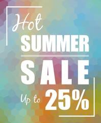 Hot Summer Sale over polygonal background