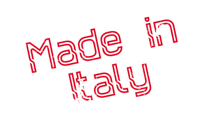 Made In Italy rubber stamp. Grunge design with dust scratches. Effects can be easily removed for a clean, crisp look. Color is easily changed.