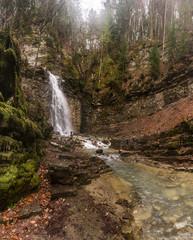 Maniavskii Waterfall. Maniava. Ukraine