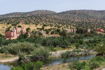Village de l'Anti-Atlas au sud du Maroc
