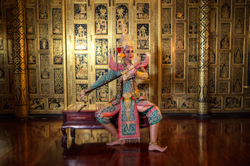 KHON RAMA character in ramayana story the best mask thai dance of Thailand