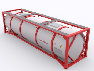Tankcontainer isolated