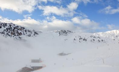 General view of the ski area Mayrhofen - Zillertal, Austria