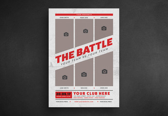 Concert Event Poster Layout