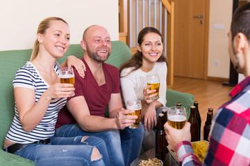 people drinking beer indoor