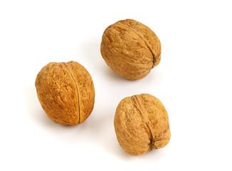 Three walnuts