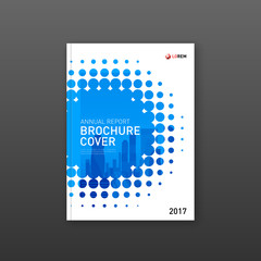Brochure cover design template for construction or technology company.