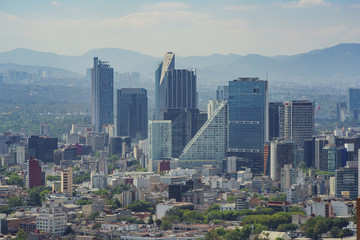 Aerial view of Mexico cityscape