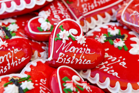 Licitars of Marija Bistrica, colorfully decorated biscuits made of sweet honey dough