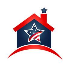 American house logo vector