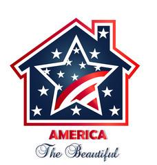 Patriotic american house logo