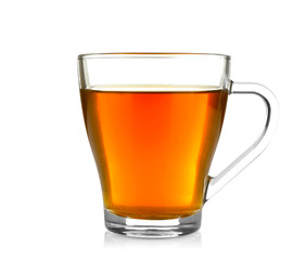 Photo sur Aluminium The Cup of tea isolated on white