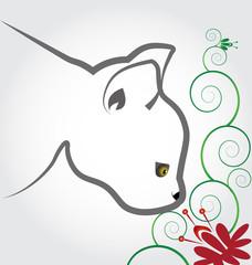Cat flower logo