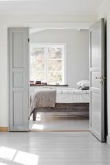Sweden, Open door to bedroom