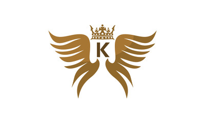 Wing Crown Logo Initial K