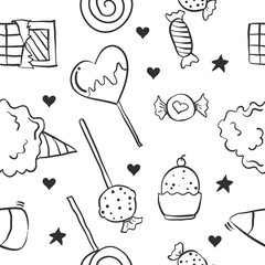 Collection stock of candy doodle style