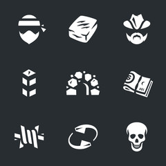 Vector Set of Drug cartel Icons.
