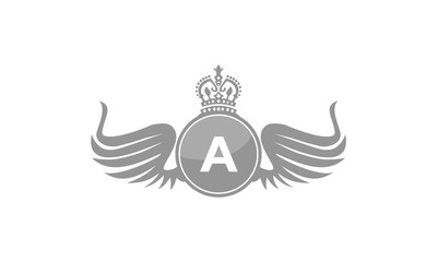 Wing Crown Logo Initial A
