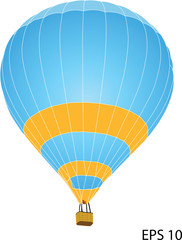 Hot Air Balloon Vector Illustration, EPS 10.