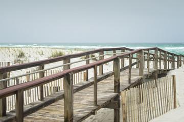 Beautiful rainy day at Florida Beach Boardwalk