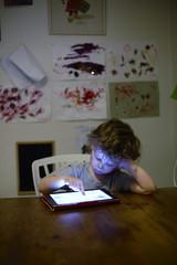 Sweden, Boy (2-3) playing on digital tablet