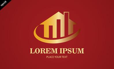 gold home business finance logo