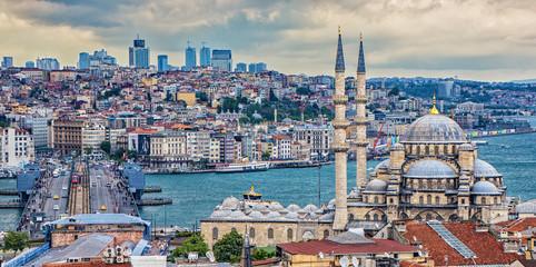 New Mosque in Istanbul Overlooking Bosphorus Strait