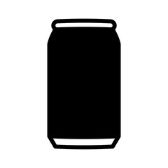 Aluminum soda or beer can flat vector icon for apps and websites
