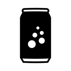 Soda pop / soft drink or beer can flat vector icon for apps and websites
