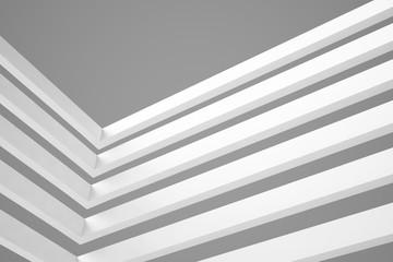 3d blue White Modern Building Concept background