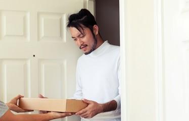 door to door delivery concept.