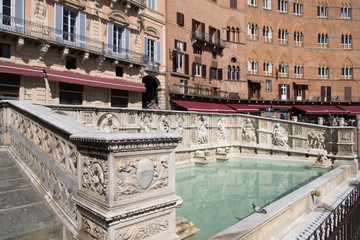 The Fonte Gaia fountain in Siena