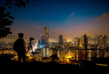 Hong Kong Sham Shui Po District View from Garden Hill