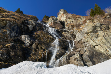 Waterfall at springtime