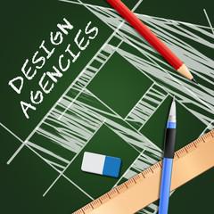 Design Agencies Meaning Creative Artwork 3d Illustration