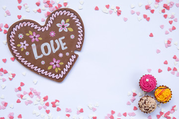 sweets, chocolate, heart, background