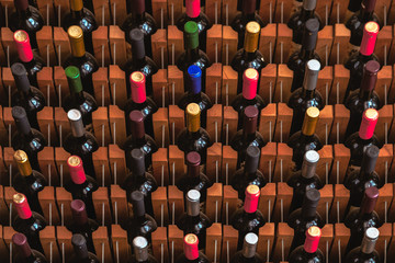 The wine rack in wine house
