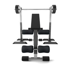 Multifunctional bench barbell weights
