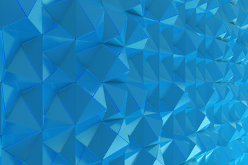 Pattern of blue pyramid shapes
