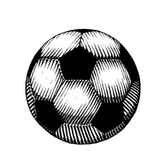 Vectorized Ink Sketch of a Soccer Ball