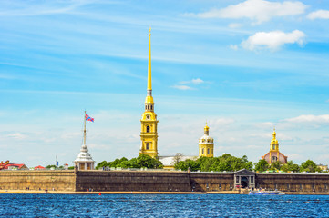 Peter and Paul Fortress across the Neva river, St Petersburg, Russia