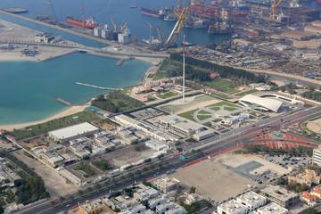 Dubai Union House Etihad Museum Jumeirah Luftaufnahme Luftbild