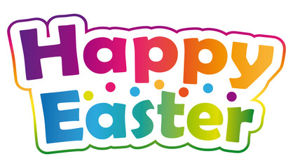 Happy easter ! Colorful banner