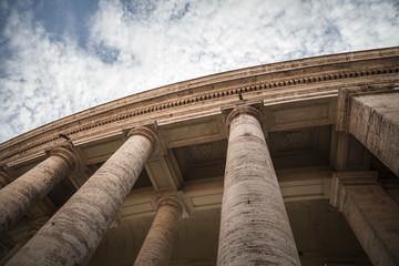 Columns of Apostolic palace, Palazzo Apostolico, Vatican city, Rome, Italy.