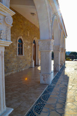 Arches of the church of St. Epiphanius. Cyprus. Ayia Napa