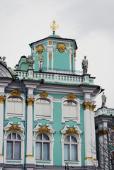 Architecture of Saint-Petersburg, Russia. Hermitage (Winter Palace) museum.