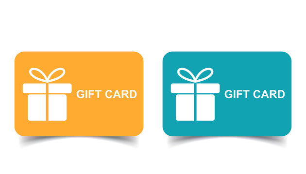 Gift card. Discount coupon. Flat vector illustration