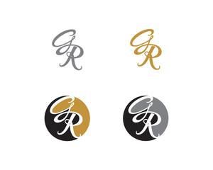 Letter G and R Logo Icon 2