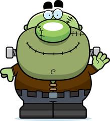 Waving Cartoon Frankenstein