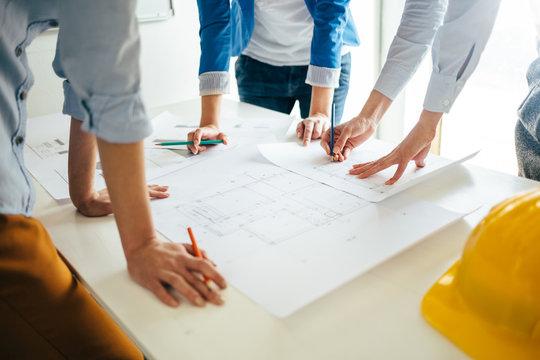 Construction engineer teamwork